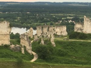 Chateau Gaillard, with the Seine River in the background.