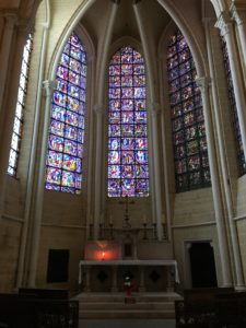 Stained glass windows in the Cathedral of Chartres,